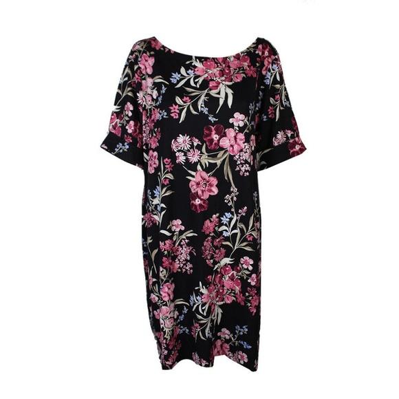 4d3ab7d29cbf Karen Scott Dresses | Plus Size Black Pink Floralprint Dress | Poshmark